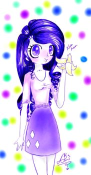 Rarity- The Banana Muncher :3 by p-l-u-m-b-u-m
