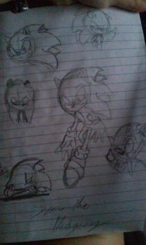 Random Doodle is Sonic by Wolf1226