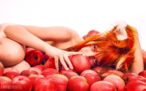 Nude Horo in Apples by andrewhitc
