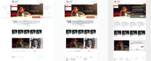 Sunsar Maya Website layout evolution by michalkosecki