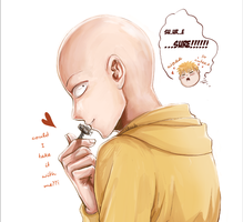 [one-punch man] cute Saitama by unvB