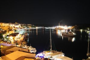 Mao's harbour at night by Pzychonoir