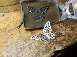 Gold butterfly 4 by Debals