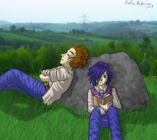 Lexaeus and Zexion Relaxing by Lord-Evell