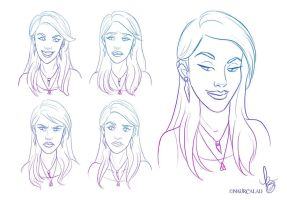 Facial Expressions I by NaurCalad