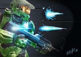 Halo Digital Painting by LEADZ
