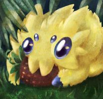 Joltik and a berry. by SunnyLedian