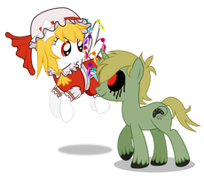 Request: Flandre Scarlet + Ben Drowned by masemj