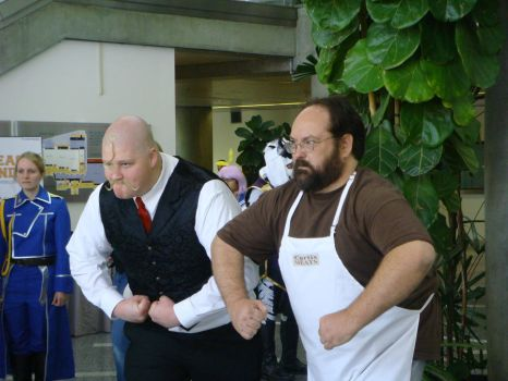 Major Armstrong and Sig Curtis - Fanime 2012 by MoonRadience