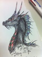 - The dragon - by wolf-child1995