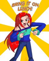 Art Trade - Bring it on, Lunch by sonicgirl11