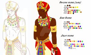 Egyptian Pruflas Color Refs by BloodRed-Orchid