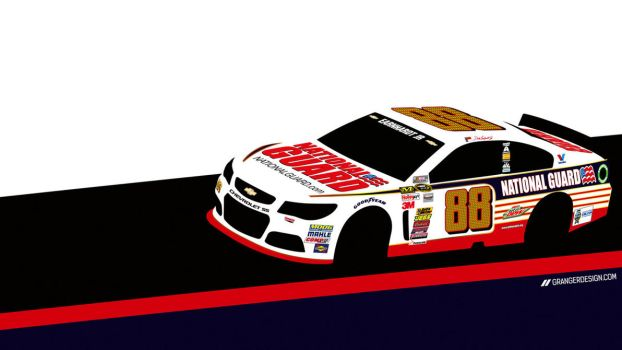 Dale Earnhardt Jr Wallpaper - Vector Illustration by GrangerDesign