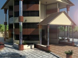 new villa design C4D by ibrahim-ksa