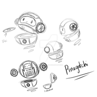 .: Sketch: Pinogotchi :. by Ask-NikoStarlet