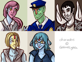 Commissions: GabrielLightz portraits by ph00