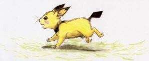 Realistic Pichu by EarthGwee