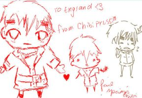 Chibi england and Chib spain by loveless45