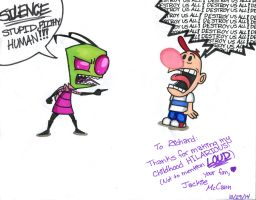 Gift for Richard Horvitz by Jackie-Chaos-Bunny