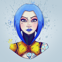 Borderlands 2: Maya as the Siren by wavvess