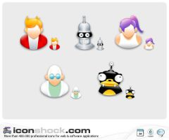 Futurama application Icons MAC by Iconshock