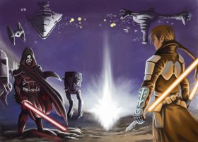 Darth Iko vs Zenn-La by MrSinister616