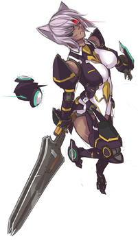My PSO2 Charecter by Exaxuxer