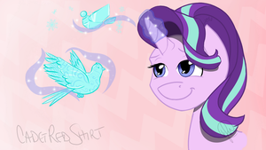 Starlight Glimmer with da Magiks (Pony Poll) by CadetRedShirt