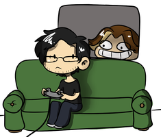 Gaming at the grumps by TheLittlehoneybee