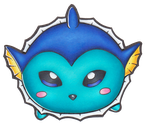 Pokemon - Chibi Vaporeon Tsum Tsum by heatbish