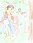 Luffy+Robin Vines Color by xox1melly1xox