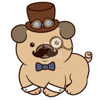 Steampug_ Design by pinkplaidrobot
