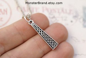 Celtic Braid Necklace by MonsterBrandCrafts