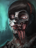 Zombie Girl by MrG00