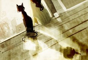 Good morning to you too Mister Snuffles. by PascalCampion