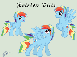 Rainbow Dash Stallion (a.k.a. Rainbow Blitz) by IIAmethystSkyII
