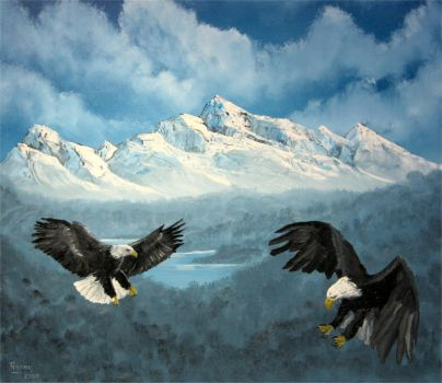 flying eagles by ronhue