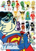 DC Heroes' Collage by KidFromTaiWan