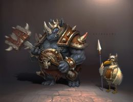 Rhinos warriors and Gull soldier by groovequai