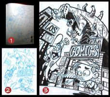 Los Comics, step by step by elmicro