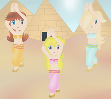 Request Peach group  belly dancers by twinlightownz