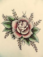 Simple rose by The-Meditator-Within