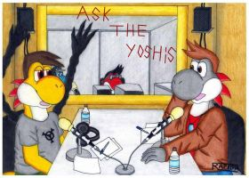Ask The Yoshis by gamerpainter