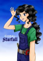 Coral Starfall by nataliewhipple