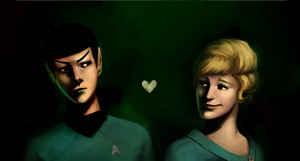 Spock and Chapel by student-yuuto