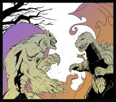 KMAC October 2013: Wolfman vs Godzilla by rebis
