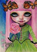 Pink Haired Rose by Iluvfaeries