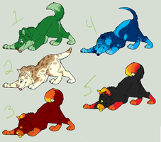 Puppy Adoptables by SuburbanExperiment