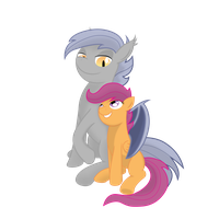 Night Crescent and Scootaloo by GatesMcCloud