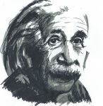 Marker drawing Albert Einstein by Barbarian-J
